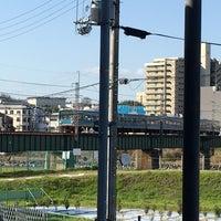 Photo taken at JR奈良線 宇治川橋梁 by いーんちょ on 3/16/2018
