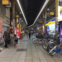 Photo taken at 十三東駅前商店街 by いーんちょ on 6/11/2017