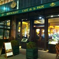Photo taken at Café de la Paix by 🇫🇷 Nicolas 🇫🇷 on 10/1/2012