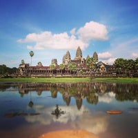 Photo taken at Angkor Wat by Larry Y. on 7/1/2013