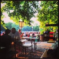 Photo taken at Seehaus im Englischen Garten by Rubén F. on 7/17/2013