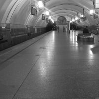 Photo taken at metro Ligovsky Prospekt by Nikolay O. on 6/18/2013