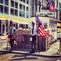 Photo taken at Checkpoint Charlie by Vincent C. on 7/14/2013