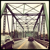 Photo taken at New Hope-Lambertville Toll Supported Bridge by Stacey M. on 10/25/2012