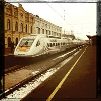 Photo taken at Finlyandsky Railway Station (FVS) by friendly_fire on 4/1/2013