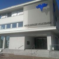 Photo taken at Volksbank Dossenheim by Thomas K. on 7/21/2013