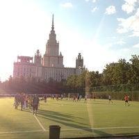 Photo taken at Футбольное поле МГУ by Maxim P. on 6/3/2013