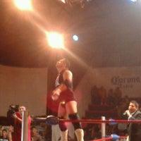 Photo taken at Arena Adolfo Lopez Mateos by Katia V. on 4/22/2013