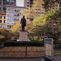 Photo taken at Statue of Roscoe Conkling by Jeffrey Z. on 11/14/2017