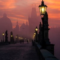 Photo taken at Charles Bridge by Constantin D. on 8/21/2013