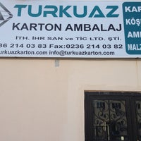 Photo taken at Turkuaz Karton Ambalaj by KHelvaci on 9/11/2014