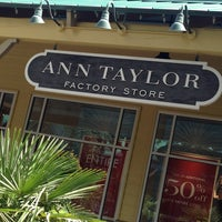 Photo taken at Ann Taylor Factory Outlet by Dave M. on 8/26/2013