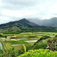 Photo taken at Hanalei Valley Lookout by Jason K. on 4/4/2013