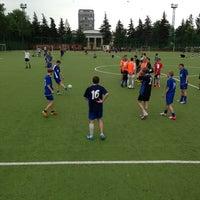 Photo taken at Футбольное поле МГУ by Алексей М. on 5/25/2013