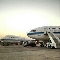 Photo taken at Kuwait International Airport (KWI) by 3li_ a. on 3/13/2013