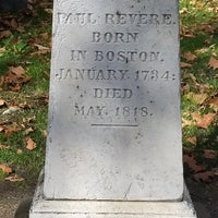Photo taken at Paul Revere's Tomb by Charles L. on 11/4/2016