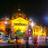 Photo taken at Flinders Street Station by Scott A. on 2/13/2013