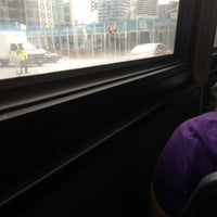 Photo taken at TTC Bus #6 Bay by Thea G. on 6/8/2013