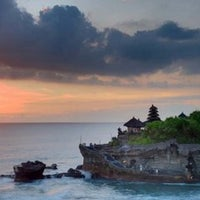 Photo taken at Tanah Lot Temple by Marina B. on 5/12/2013
