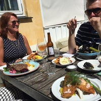 Photo taken at Restaurant Gilleleje Havn by Claus V. on 6/14/2014