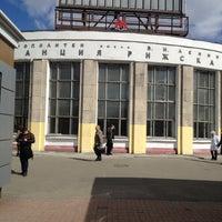 Photo taken at metro Rizhskaya by Яна П. on 4/22/2013