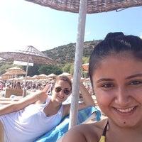 Photo taken at İpek Palace Beach by Bahar C. on 9/7/2014