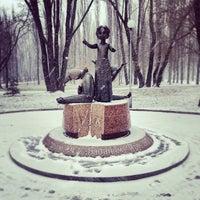 Photo taken at Памятник детям, расстрелянным в Бабьем Яру by Kseniya S. on 1/21/2014