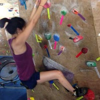 Photo taken at Red Barn Climbing Gym by Elaine N. on 8/3/2014