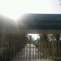 Photo taken at Colegio de Bachilleres del Estado de Yucatán Plantel Río Lagartos by Edgar R. on 8/5/2013