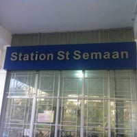 Photo taken at Station St Semaan by Eddy A. on 3/13/2013