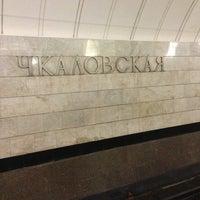 Photo taken at metro Chkalovskaya by Yuri B. on 3/27/2013