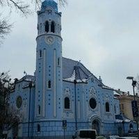 Photo taken at Kostol sv. Alžbety (The Blue Church) by Frauke P. on 3/29/2013