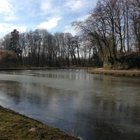 Photo taken at Schlosspark by Marco C. on 3/25/2013