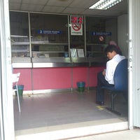 Photo taken at Pos Malaysia by Fuad R. on 6/12/2013