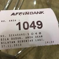 Photo taken at Affin Bank Putrajaya by Ezwan on 11/27/2013