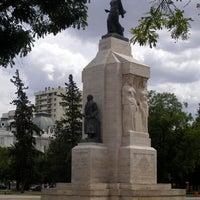 Photo taken at Plaza Rivadavia by Martin M. on 3/16/2013