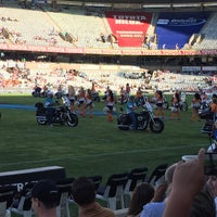 Photo taken at Free State Stadium (Vodacom Park) by Chayce S. on 3/7/2015