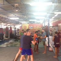 Photo taken at Nikhom Muay Thai Virapol GYM by NoRrA J. on 10/18/2015