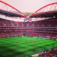 Photo taken at Estádio do Sport Lisboa e Benfica by Tiago R. on 5/2/2013