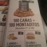 Photo taken at 100 Montaditos by Irene A. on 10/24/2012