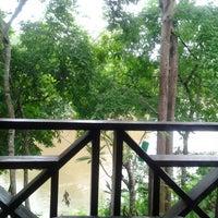 Photo taken at Sai yok river house by ผู้ชายคนนี้ ไ. on 5/21/2013