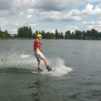 Photo taken at Ozolnieku Wakeboard by Baiba J. on 8/16/2013