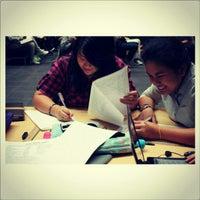 Photo taken at Library BINUS University by Anatasya M. on 10/16/2012