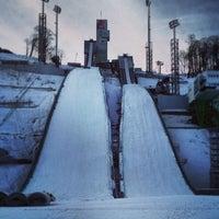 Photo taken at Трасса для лыжного двоеборья by Дмитрий Л. on 1/9/2014
