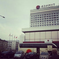 Photo taken at AZIMUT Hotel Saint Petersburg by Мария З. on 5/18/2013
