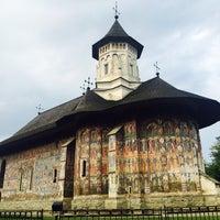 Photo taken at Biserica Mânăstirii Moldovița by Ade E. on 8/10/2016