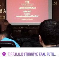 Photo taken at Türkiye Faal Futbol Hakemleri ve Gözlemcileri Derneği   İstanbul Şubesi by Sercan Y. on 1/25/2017