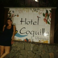 Photo taken at Hotel Coquille - Ubatuba by Marina G. on 4/2/2013