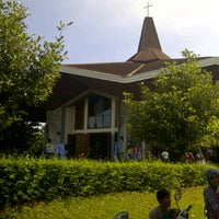 Photo taken at Gereja Katolik Santo Matius Penginjil by Bintoro S. on 3/17/2013