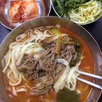 Photo taken at 문배동육칼 by Q on 12/15/2014